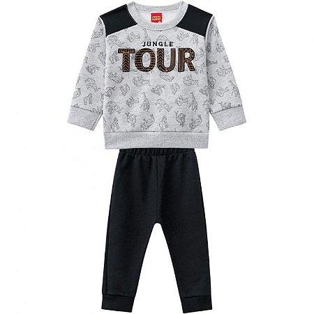 Conjunto Infantil Blusa + Calça Moletom Safari Kyly 206946