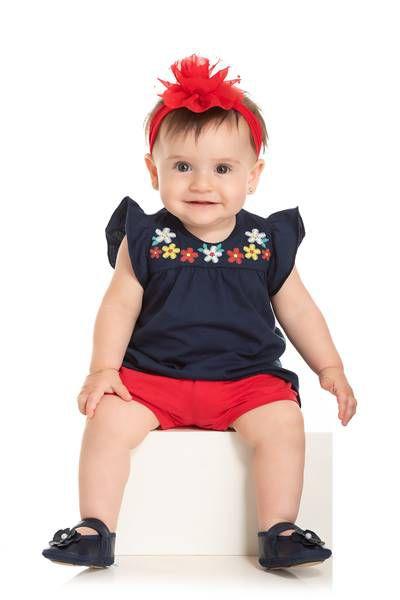 Conjunto Infantil Short + Bata - Serelepe  5511