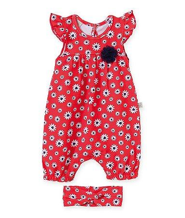 Macacão Regata c /Faixa para Bebê Pingo Lelê 66302