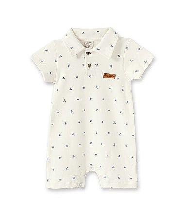 Macacão Curto Gola Polo para Bebê Pingo Lelê 66347