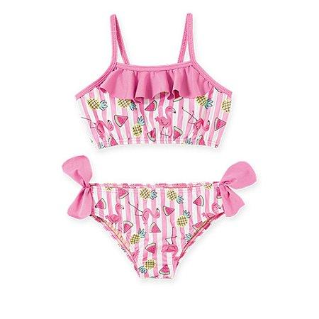 Biquini Bebê Flamingo Pingo Lelê com Proteção UV 50+ 36041