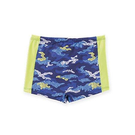 Sunga Infantil Estampa Camuflado Proteção UV 50 36052