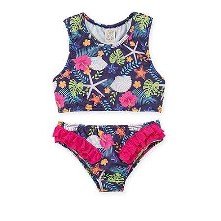 Biquini Infantil Top Nadador e Calcinha Proteção UV 50 - Pingo LeLê 36042