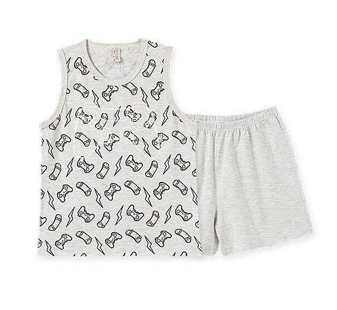 Pijama Infantil Regata e Short Pingo Lelê 86162