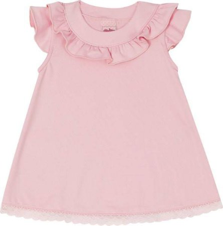 Vestido Infantil Regata Rosa - Serelepe 5522