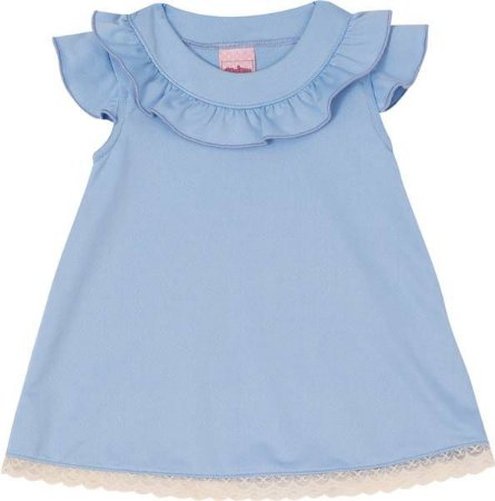 Vestido Infantil Regata Azul - Serelepe 5522
