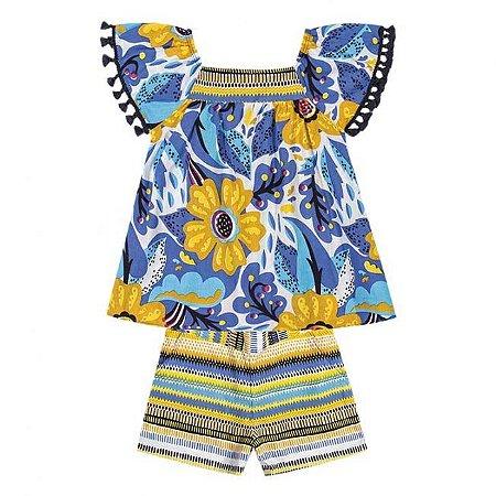 Conjunto Infantil Bata + Short Nanai 600247