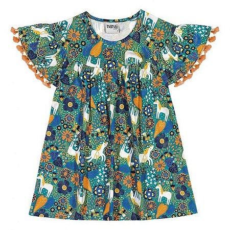 Vestido Infantil Viscose Verde Nanai  600237