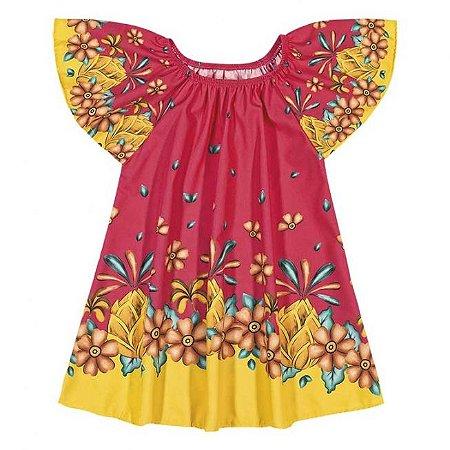 Vestido Infantil Floral Pink Nanai 600250