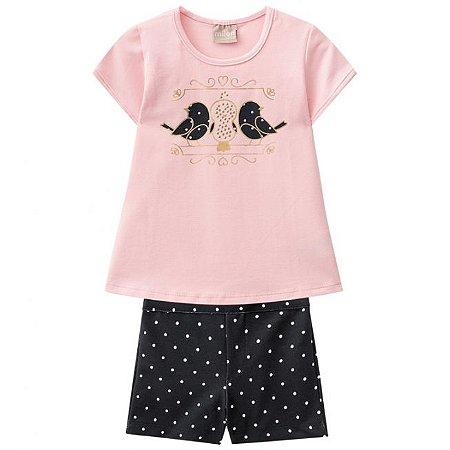 Conjunto Infantil Short + Blusa Milon  11069