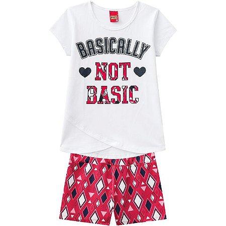 Conjunto Infantil Short Malha + Camiseta Kyly 109686