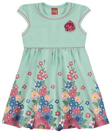 Vestido Infantil Verde Flores Kyly 109140