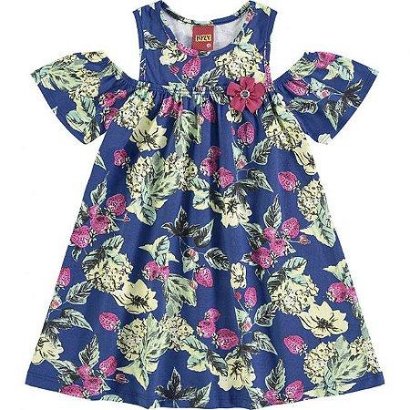 Vestido Infantil Azul Flores Kyly 109336