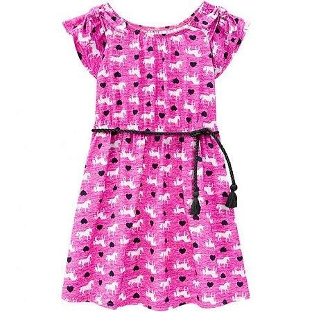 Vestido Infantil Rosa Unicórnio Kyly 109673