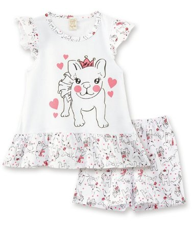 Pijama Infantil Short + Camiseta  Pingo Lelê 76001