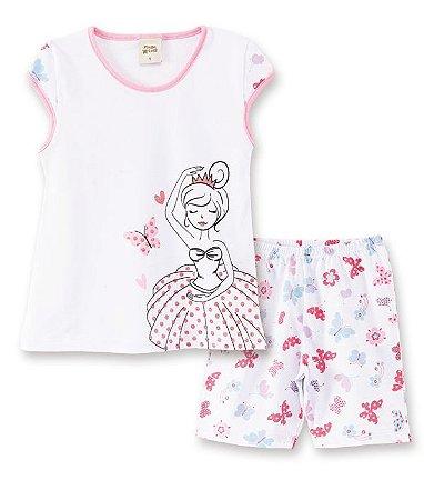Pijama Infantil Short + Camiseta Bailarina  Pingo Lelê 76007