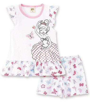 Pijama Infantil Short + Camiseta Bailarina  Pingo Lelê 76008