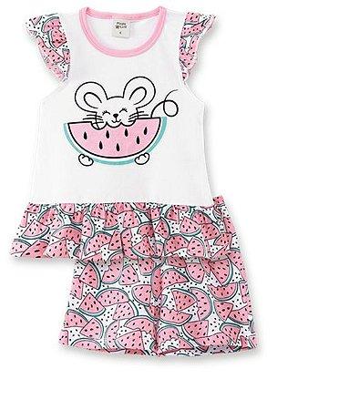 Pijama Infantil Short + Camiseta Melancia  Pingo Lelê 76022