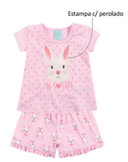 Pijama Infantil Brilha no Escuro Rosa Kyly 108183