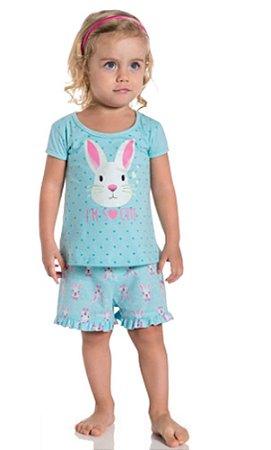 Pijama Infantil Brilha no Escuro Verde Kyly 108183