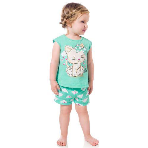Pijama Infantil Brilha no Escuro Verde Kyly 108955