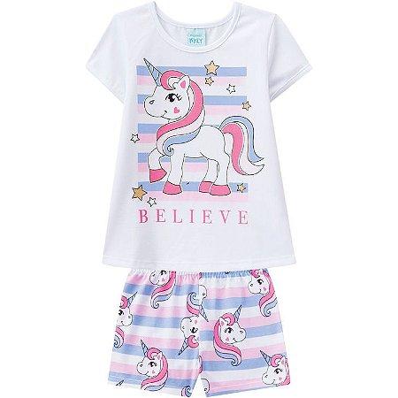 Pijama Infantil Anti Mosquito Unicórinio - Kyly 109780