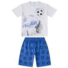 Pijama Verão Infantil  Azul Kyly  108977