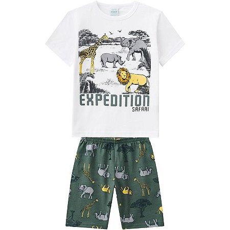 Pijama Verão Infantil Masculino Verde Kyly  109796