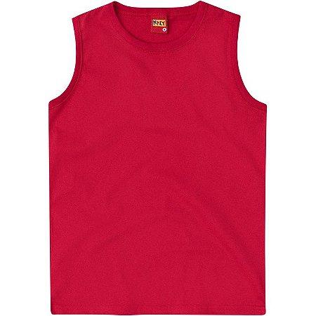 Regata Infantil Masculina em Meia Malha Vermelha Kyly 106305