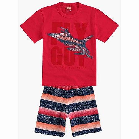 Conjunto Infantil Short Moletinho + Camiseta Kyly 109237