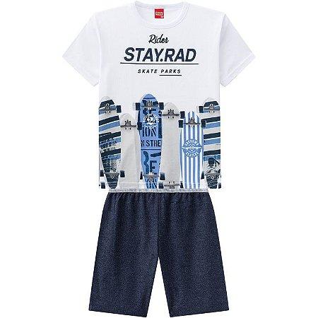 Conjunto Infantil Masculino Short Moletinho + Camiseta Kyly 109764