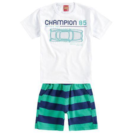 Conjunto Infantil Short Sarja + Camiseta Kyly 109409