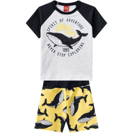 Conjunto Infantil Bermuda Tactel + Camiseta Kyly 109715