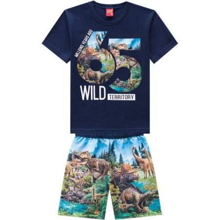 Conjunto Infantil Bermuda Tactel + Camiseta Kyly 109737