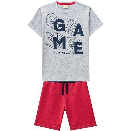 Conjunto Infantil Camiseta Mescla + Bermuda Moletinho Milon 11818