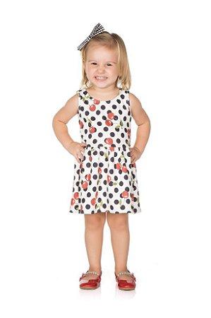 Vestido Infantil Poá Pega Mania 54107