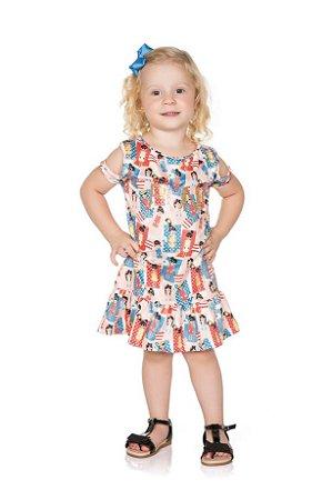 Vestido Infantil Pega Mania 52092