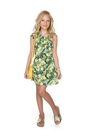 Vestido Infantil Frutas Pega Mania 54111