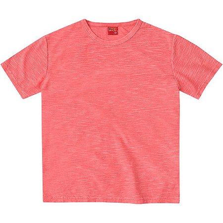 Camiseta Infantil Masculina Basica Vermelha Kyly 107643