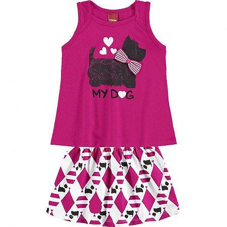 Conjunto Infantil Regata Pink + Short Saia Kyly 109322