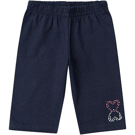 Bermuda Infantil em Cotton Azul Kyly 106883