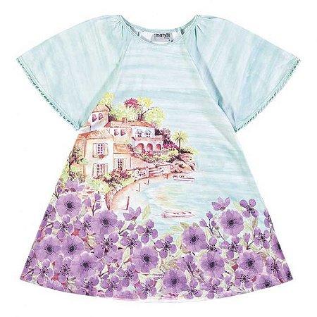 Vestido Infantil Flores Lilas Nanai 600116