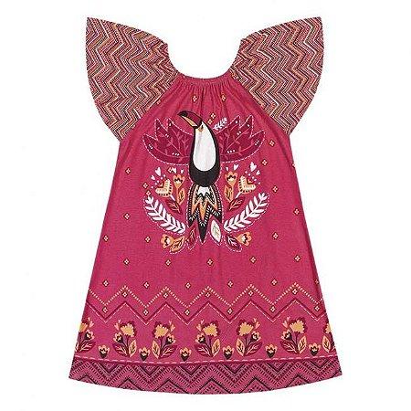 Vestido Infantil Tucano Pink Nanai 600257