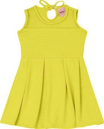 Vestido infantil Amarelo Serelepe 5559