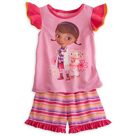 Pijama Curto Infantil Doutora Brinquedos Disney 006