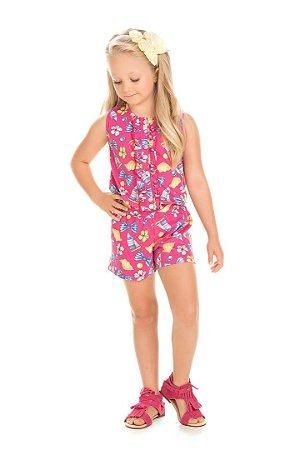 Macacão Infantil  Rosa 5106