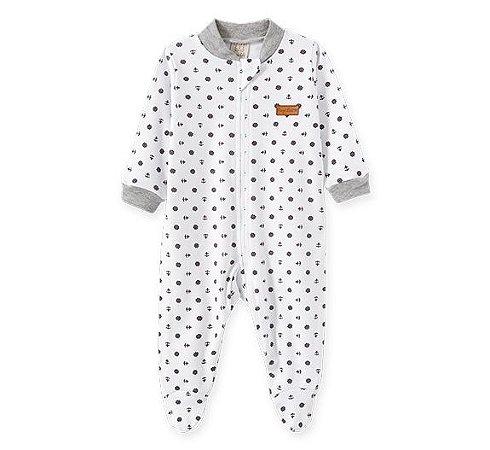 Macacão longo c/ zíper para bebê Náutico Pingo Lelê 66572