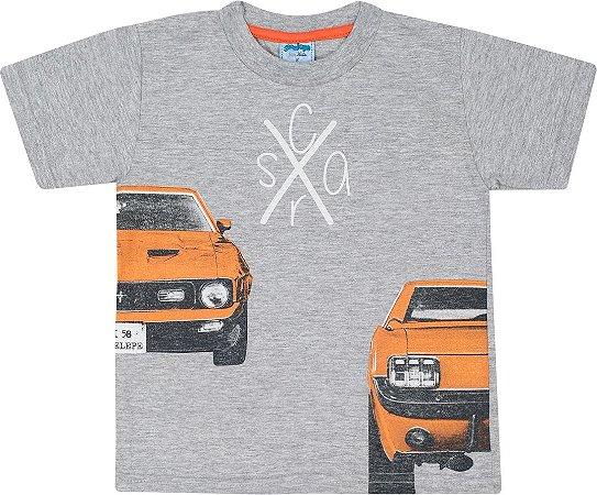 Camiseta Infantil Masculina Carro Mescla Serelepe 5065