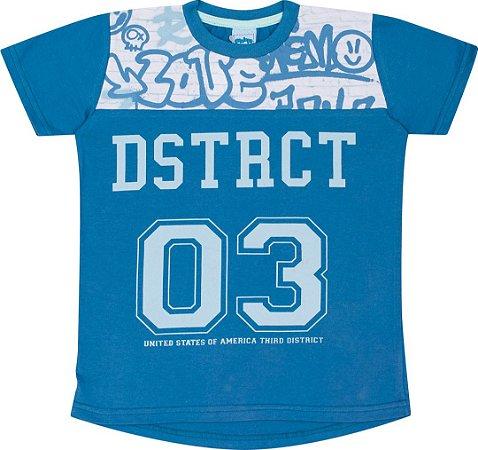 Camiseta Infantil Masculina Azul Serelepe 5109