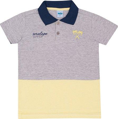 Camiseta Infantil Gola Polo Mescla Serelepe 5113
